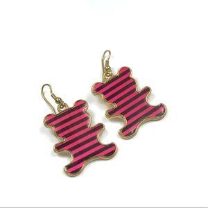🌈4/$15 Pink & Black teddy bear earrings